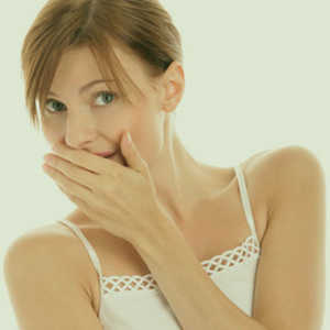 Photo Icon of a woman suffering from bad breath